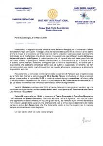 Lettera del mese di marzo 2020